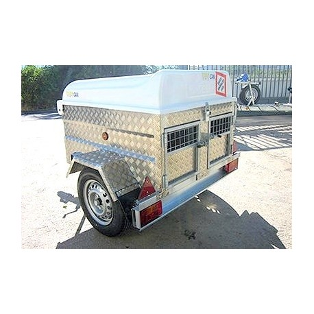 Remolque Cazador Aluminio FEBA 2 PUERTAS 120x100