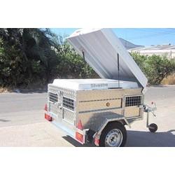 Remolque Cazador Aluminio FEBA 3 PUERTAS 158x118