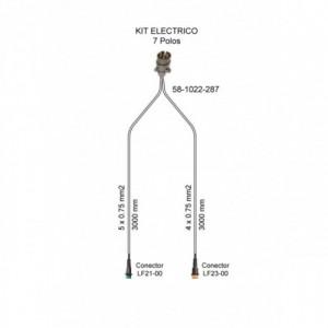 Cableado electrico remolque 7 Polos, Linea 3 metros con conector