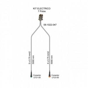 Cableado electrico remolque 7 Polos, Linea 5 metros con conector