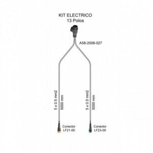 Cableado electrico remolque 13 Polos, Linea 5 metros con conector