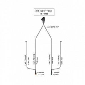 Cableado electrico remolque 13 Polos, Linea 7 metros con conector (extension opcional para galibos)
