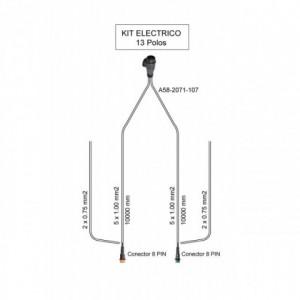 Cableado electrico remolque 13 Polos, Linea 10 metros con conector (extension opcional para galibos)