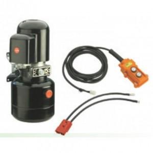 Central hidraulica electrica GEPLASMETAL 12 V simple efecto 5 litros botonera con cable