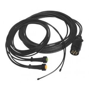 Kit electrico remolque 7 Polos sin pilotos, Linea 5 metros con conector (extension opcional para galibos)