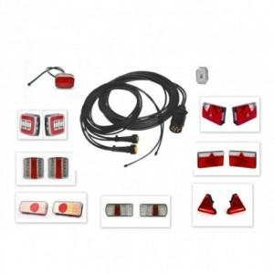 Kit electrico remolque 7 Polos pilotos Led, Linea 5 metros con conector (extension opcional para galibos)