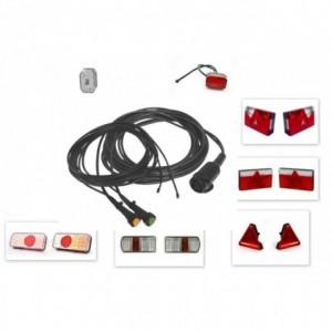 Kit electrico remolque 13 Polos pilotos Led, Linea 5 metros con conector (extension opcional para galibos)