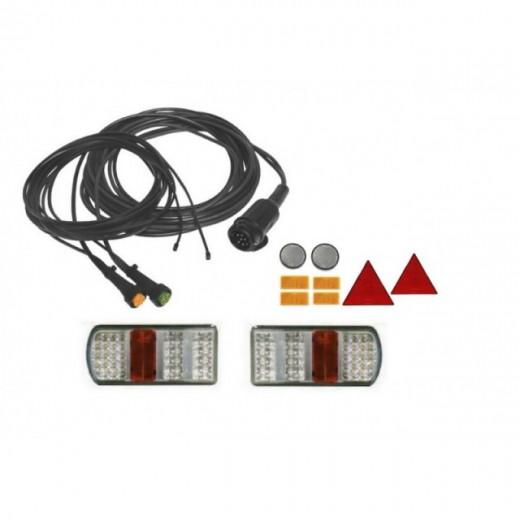 Kit electrico remolque 13 Polos pilotos Led, Linea 7 metros con conector (extension opcional para galibos)