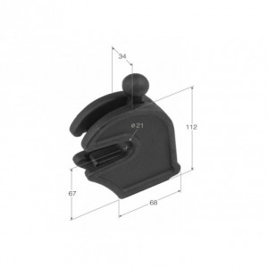 Hembra cierre basculante superior 20 mm 112x68x34 (CB-10)