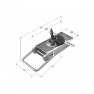 Cierre de chapa estampado con cerraduras iguales (115x40) (CH-13.2)