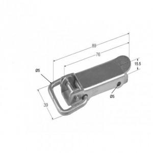 Cierre de chapa estampado de horquilla (89) (CH-14)