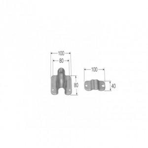 Abrazadera cierre de falleba contenedor doble 100X80 (31555-2)