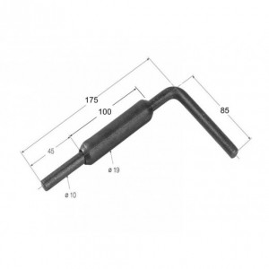 Cierre de tubo maneta larga175 mm/diam. 10 (CG-1L)