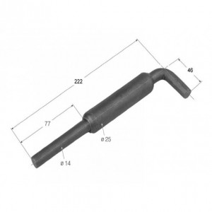 Cierre de tubo maneta corta 222 mm/diam. 14 (CG-14)