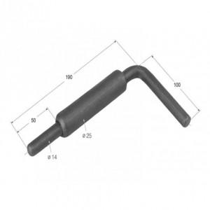 Cierre de tubo maneta larga 222 mm/diam. 14 (CG-14L)