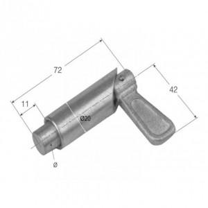 Cierre de tubo maneta con retencion 72 mm/diam. 12 (CG-10)