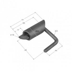 Cierre de tubo para pilar punta en chaflan 77 mm/diam. 16 (24M)