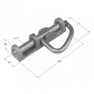 Cerrojo de maneta base aluminio mango inoxidable 156/34 diam: 17 (CRAL-6)
