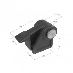 Bisagra giro volquete  (B-20) sin cincar