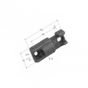 Hembra de bisagra  TIR-7 atornillar 100x40 Diam 15 (H TIR-7 BD)