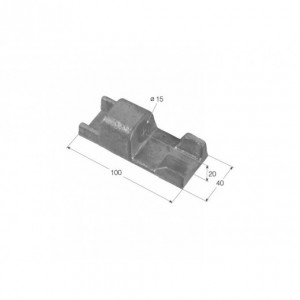 Hembra de bisagra  TIR-7 100x40 Diam. 15 (H TIR-7 AL)