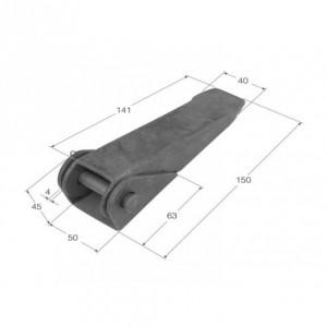 Bisagra fija 150x40 (BS-40)