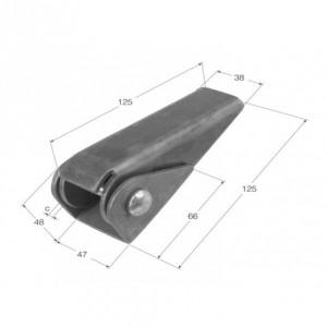 Bisagra fija 125X38 (BS-5)