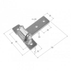 Bisagra desmontable 100x29 (BS-22)