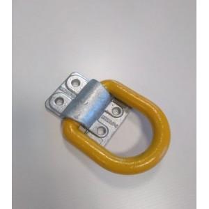 Anilla de estiba 12 T diam. 25 (base atornillable) 140x127 (AES-1.2 HDG)