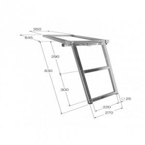 Escalera escamoteable 2 peldaños (ESC-2)