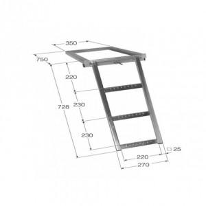 Escalera escamoteable 3 peldaños (ESC-3)