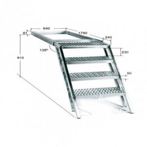 Escalera escamoteable para frigorifico 4 peldaños (ESC-4)