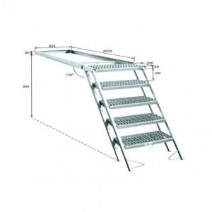 Escalera escamoteable para frigorifico 5 peldaños (ESC-5)