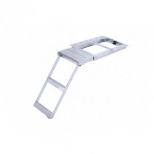 Escalera escamoteable con plataforma superior 2 peldaños (ESC-TK8215)