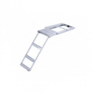 Escalera escamoteable con plataforma superior 3 peldaños (ESC-TK8225)