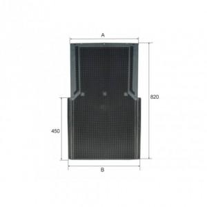 Faldilla Guardabarros camion  antispray de PVC 600/650 x 820 mm